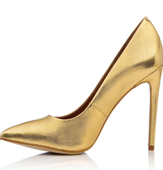 Steve Madden gold pump