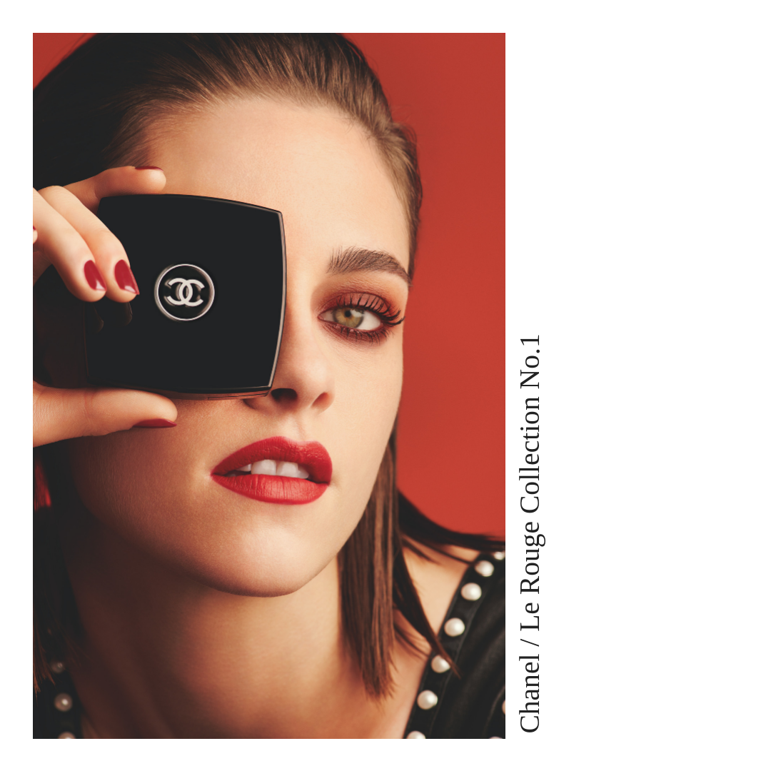 Chanel Le Rouge Collection No.1 by Lucia Pica // Kristen Stewart by Mario Testino