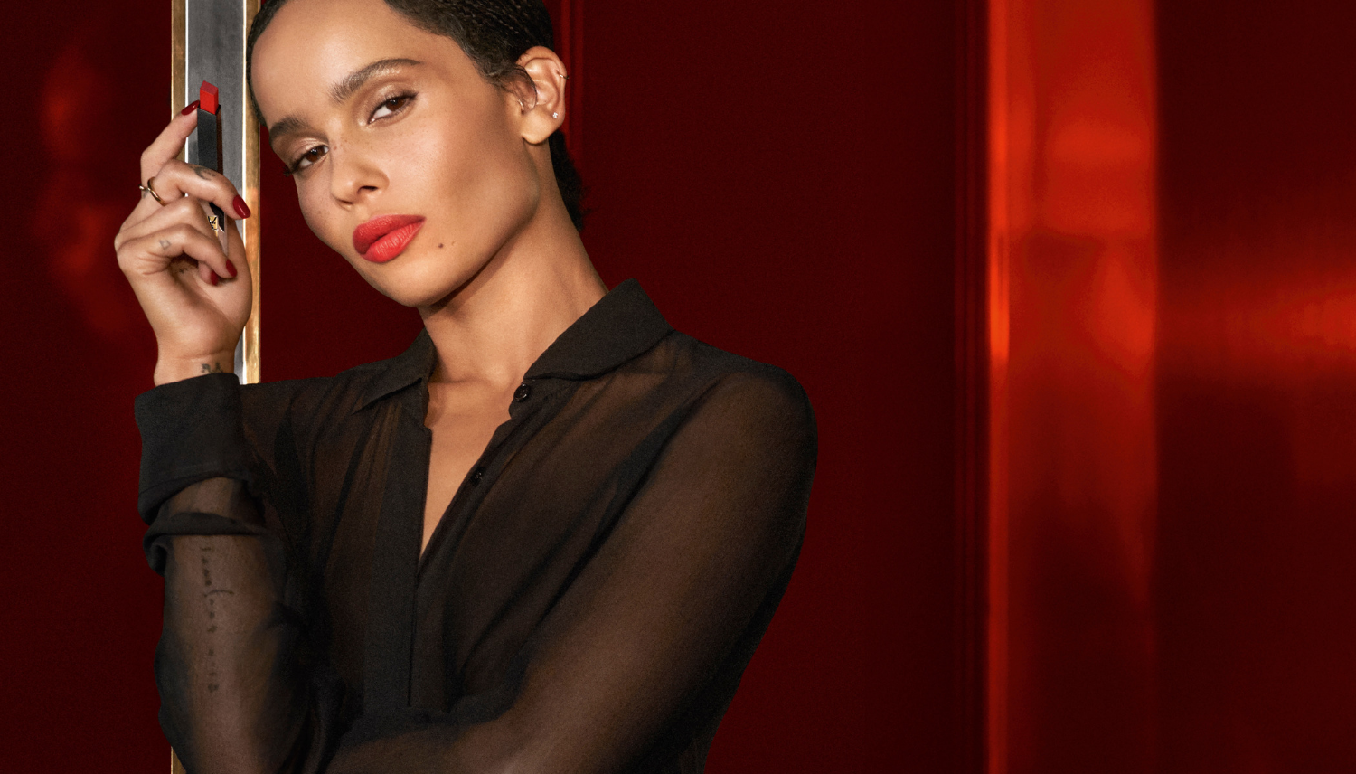 Zoe Kravitz x Rouge Pur Couture The Slim Sheer Matte